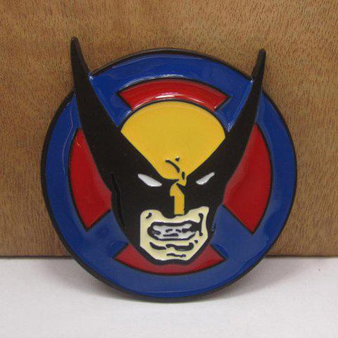 Outfits Stylish Cartoon Person Head Shape Embellished Rounded Belt Buckle For Men AS THE PICTURE