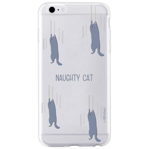 Outfit Pets Paradise Series Ultrathin Naughty Cat Design TPU Protective Phone Back Case for iPhone 6
