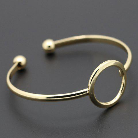 Hollow Out Round Cuff Bracelet - GOLDEN