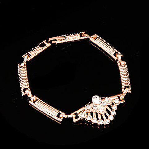 A Suit of Chic Rhinestone Peacock's Tail Shape Necklace Bracelet Earrings and Ring For Women от Rosegal.com INT