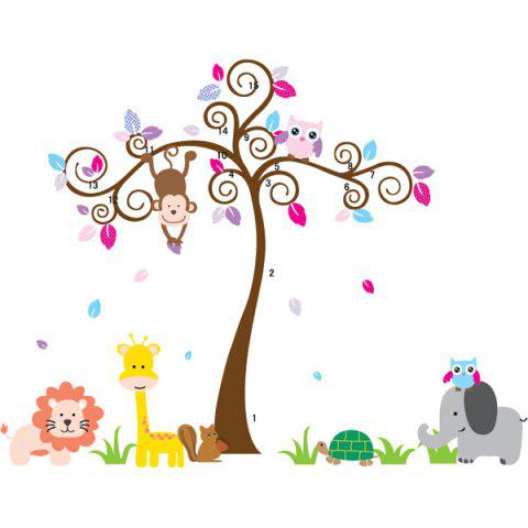 Chic DIY Chic Cartoon Tree and Animal Pattern Home Decoration Decorative Wall Stickers