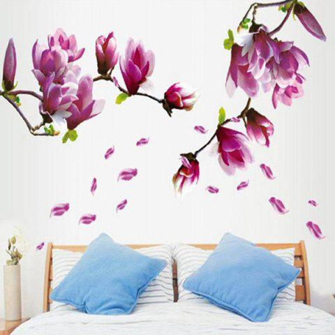 Discount Chic Elegant Petal Pattern Home Decoration Decorative Wall Stickers