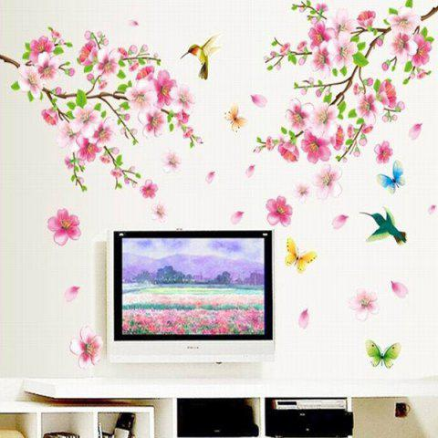 Affordable Chic Elegant Flower and Butterfly Pattern Home Decoration Decorative Wall Stickers
