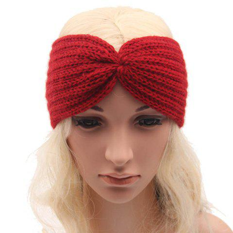 Unique Chic Solid Color Stripy Knitted Headband For Women