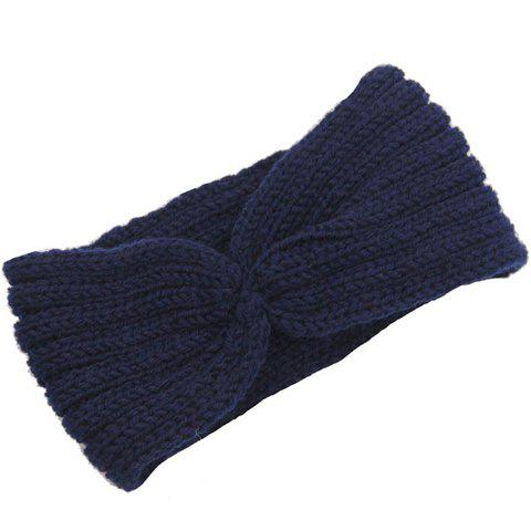 Buy Chic Solid Color Stripy Knitted Headband For Women - COLOR ASSORTED  Mobile