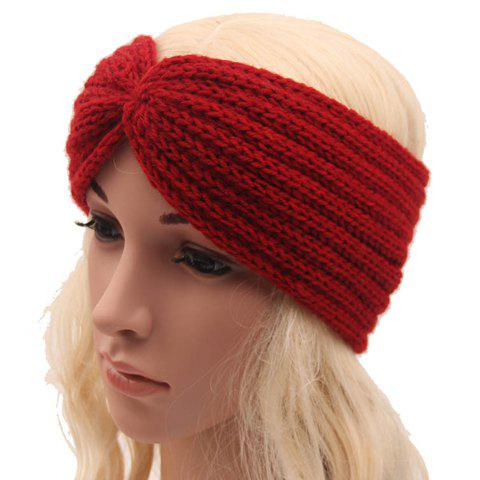 Best Chic Solid Color Stripy Knitted Headband For Women - COLOR ASSORTED  Mobile
