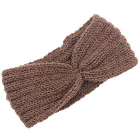 Shops Chic Solid Color Stripy Knitted Headband For Women - COLOR ASSORTED  Mobile