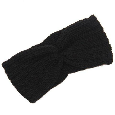 Unique Chic Solid Color Stripy Knitted Headband For Women - COLOR ASSORTED  Mobile