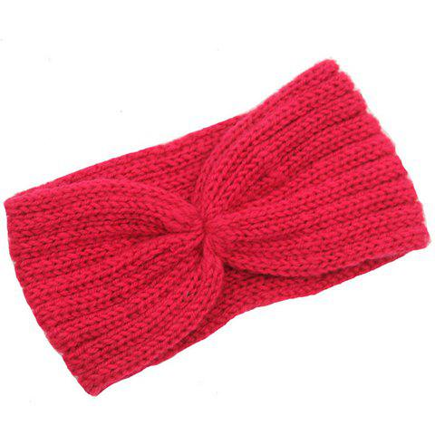 Cheap Chic Solid Color Stripy Knitted Headband For Women - COLOR ASSORTED  Mobile