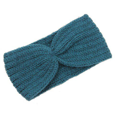 Trendy Chic Solid Color Stripy Knitted Headband For Women - COLOR ASSORTED  Mobile