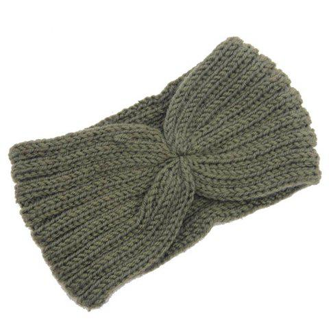 Sale Chic Solid Color Stripy Knitted Headband For Women - COLOR ASSORTED  Mobile