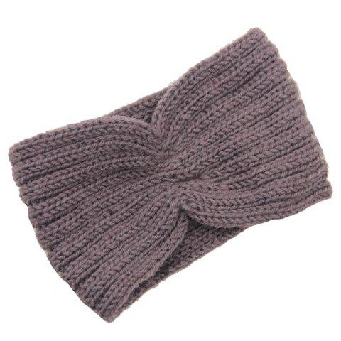 Chic Chic Solid Color Stripy Knitted Headband For Women - COLOR ASSORTED  Mobile