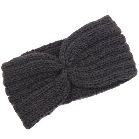 Affordable Chic Solid Color Stripy Knitted Headband For Women - COLOR ASSORTED  Mobile