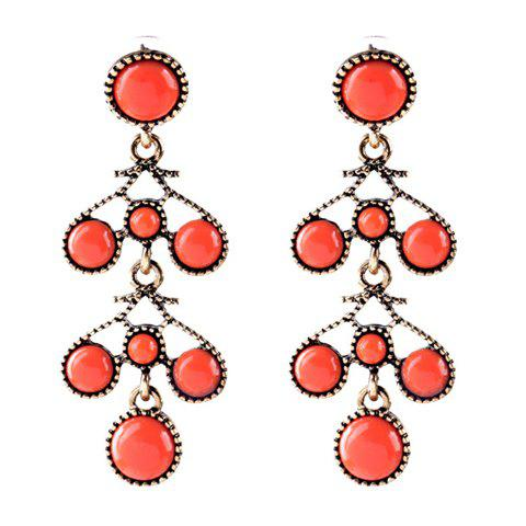 Fancy Pair of Graceful Faux Gemstone Bubble Shape Earrings For Women