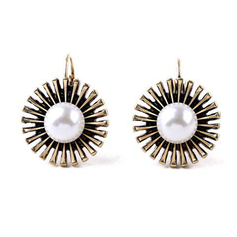 Buy Pair of Vintage Faux Pearl Flower Earrings
