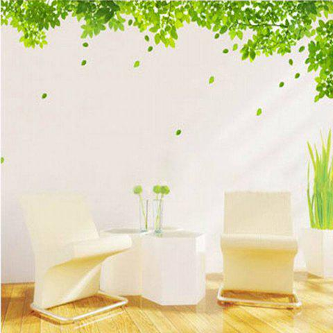 Shop Simple New Creative Green Leaf Pattern Home Decoration Decorative Wall Stickers
