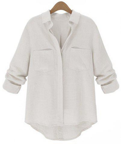 Affordable Chic Pure Color Long Sleeve Loose Shirt For Women
