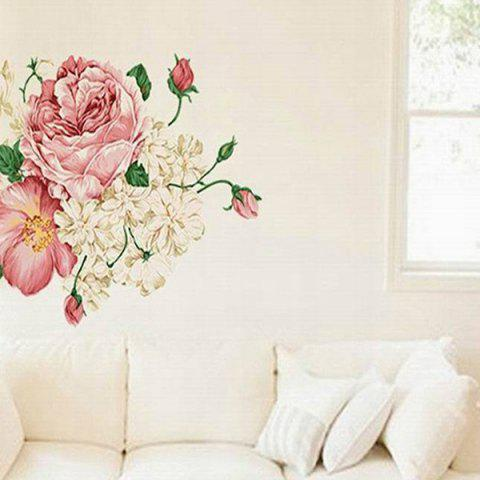 Affordable DIY Chic Creative Peony Pattern Home Decoration Decorative Wall Stickers