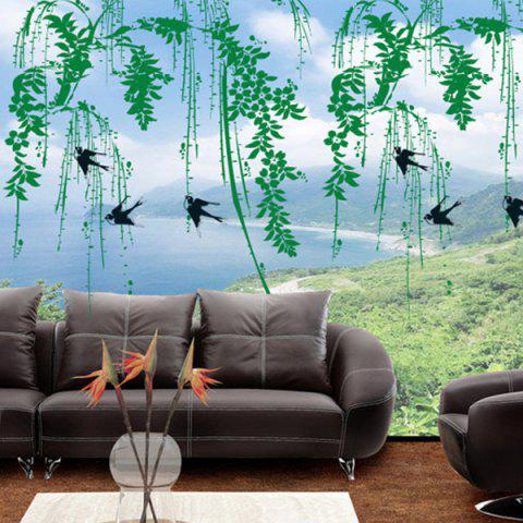 Unique DIY Chic Creative Willow Branch Pattern Home Decoration Decorative Wall Stickers