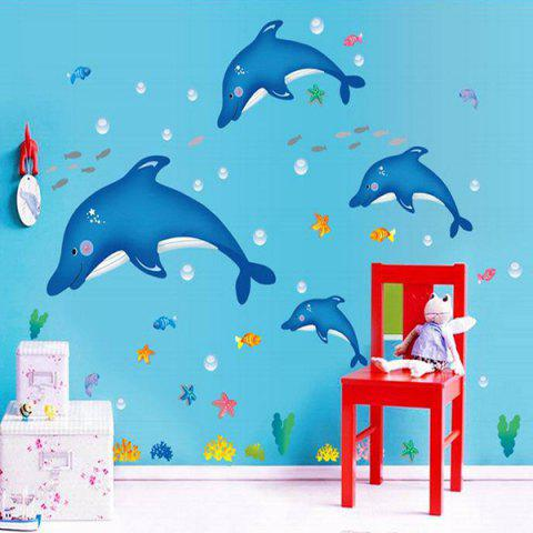 Sale Stylish Creative DIY Dolphin Pattern Home Decoration Decorative Wall Stickers