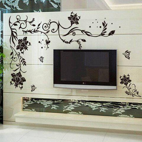 New Stylish Simple Sweet DIY Floral Pattern Home Decoration Decorative Wall Stickers