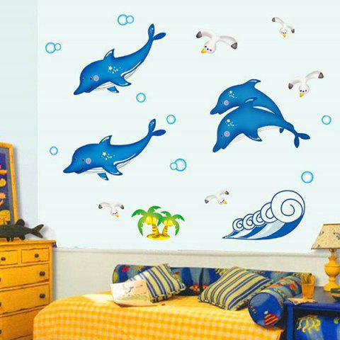 Store Stylish Simple Sweet DIY Cute Dolphin Pattern Home Decoration Decorative Wall Stickers