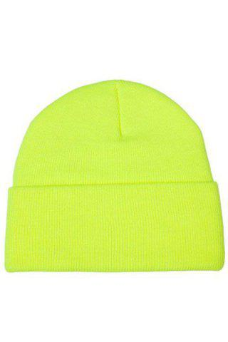 Buy Chic Candy Color Knitted Beanie For Women