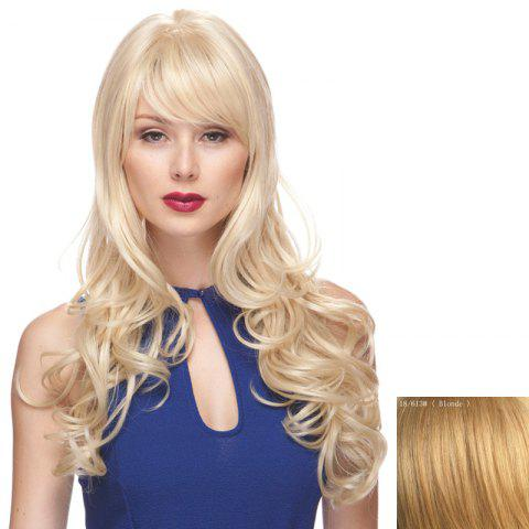 Chic Shaggy Wavy Long Capless Charming Side Bang Human Hair Wig For Women