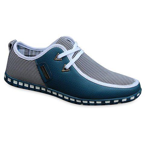 Outfits Stylish Color Block and Triangle Design Men's Casual Shoes