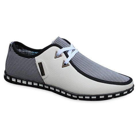 Online Stylish Color Block and Triangle Design Men's Casual Shoes