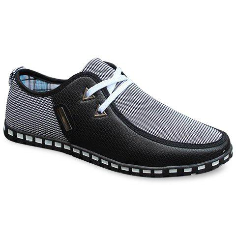 New Stylish Color Block and Triangle Design Men's Casual Shoes