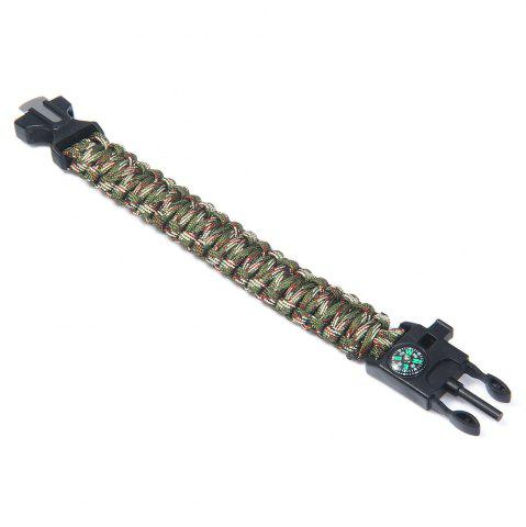 Discount 5 in 1 Outdoor Survival Gear Escape Paracord Bracelet Flint / Whistle / Compass / Scraper - CAMOUFLAGE COLOR  Mobile