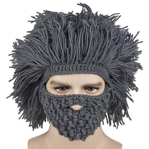 Latest Faux Hair Knitted Beard Face Hat