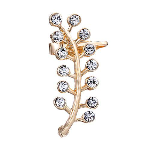 Store ONE PIECE RhinestoneAlloy Leaf Ear Cuff
