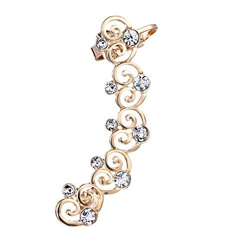 Cheap ONE PIECE Hollow Out Rhinestone Heart Ear Cuff