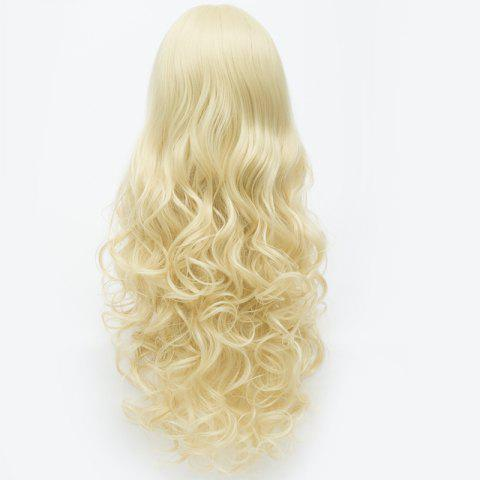 Discount Extra Long Synthetic Shaggy Wavy Charming Capless Inclined Bang Trendy Anime Cosplay Wig - LIGHT GOLD  Mobile