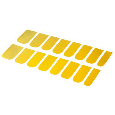 16pcs Solid Color Nail Art Flash Powder Texture Harajuku Agitation Perfect Stick Nail Stickers - Golden