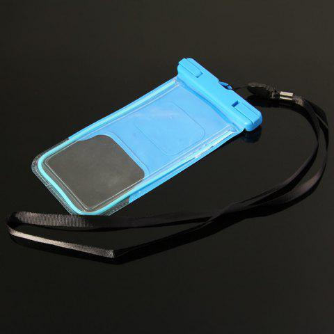 Best PC Material Protective Water Resistance Phone Pouch for iPhone 6 / 6 Plus / 6S Samsung Note 5 S6 Edge Plus etc. - BLUE  Mobile