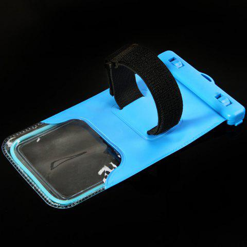 Hot PC Material Protective Water Resistance Phone Pouch for iPhone 6 / 6 Plus / 6S Samsung Note 5 S6 Edge Plus etc. - BLUE  Mobile
