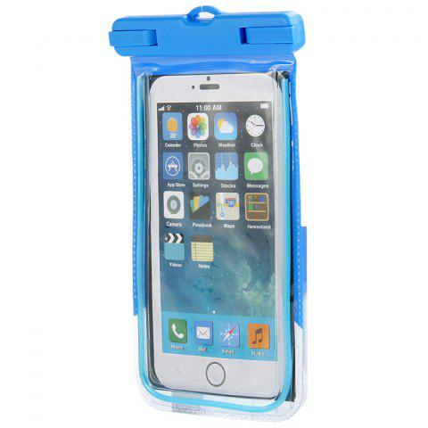 PC Material Protective Water Resistance Phone Pouch for iPhone 6 / 6 Plus / 6S Samsung Note 5 S6 Edge Plus etc. - BLUE