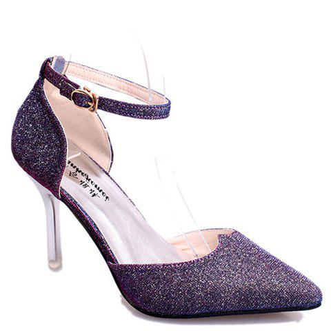 Fashion Graceful Sequined and Two-Piece Design Women's Pumps