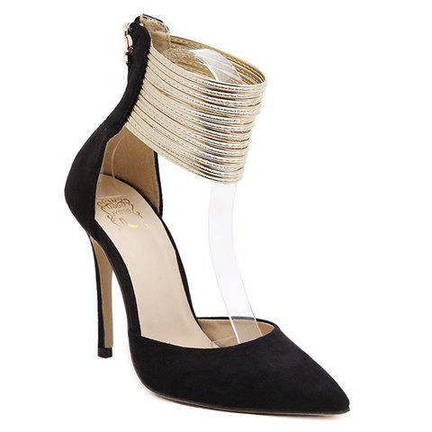 Cheap Sexy Pointed Toe and Ankle Wrap Design Women's Pumps