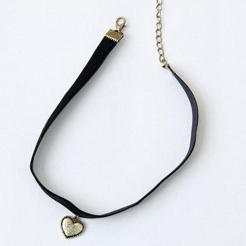 Buy Retro Style Heart Shape Pendant Choker Necklace For Women