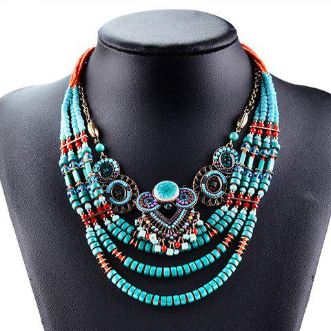 Discount Beads Layered Round Necklace