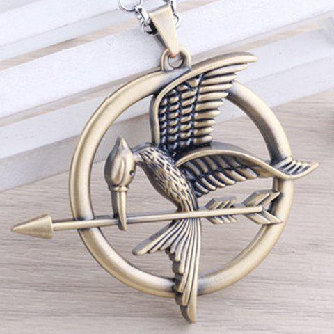 Online Chic Hunger Game Mockingjay Logo Necklace