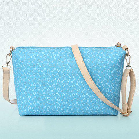 Buy Stylish Print and Rivets Design Women's Shoulder Bag - AZURE  Mobile