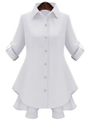 Buy Sweet Polo Collar Pure Color Bowknot Long Sleeve Blouse Women