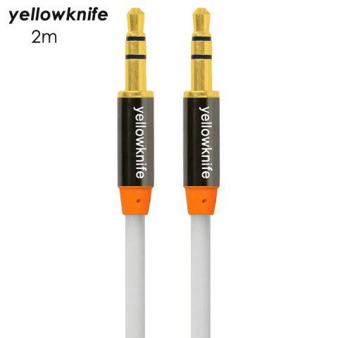 WHITE yellowknife 2m 3.5mm Jack Audio Cable