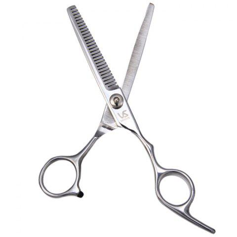 Cheap Professional Stainless Steel Grooming Hair Thinning Scissors - TEETH SCISSOR SILVER Mobile
