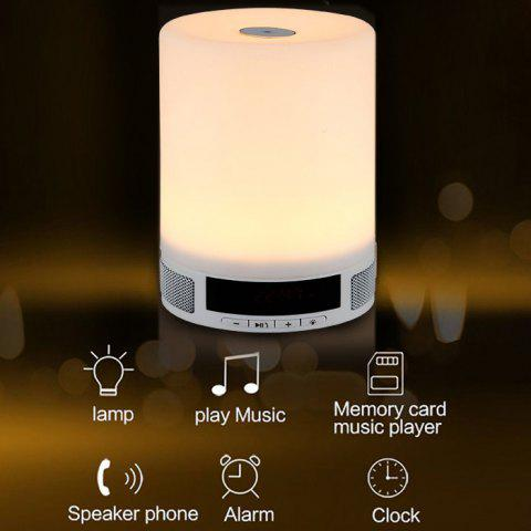 Buy Multi-functional Portable Dimmable LED Desk Lamp Wireless Bluetooth 4.0 Music Speaker Light Digital Screen Display 4 Modes Touch Sensitive Nightlight - Warm White